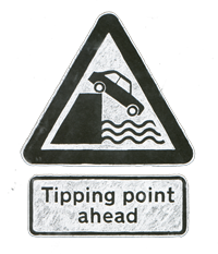 Tipping Point Ahead Sign
